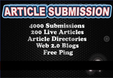 I will spin and Submit to 4000 Article Submission Directories and blogs