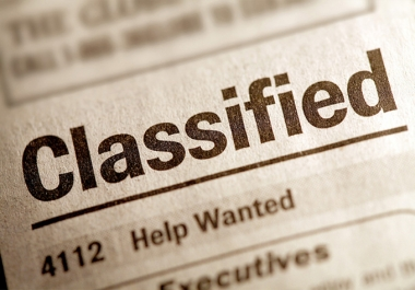 I will submit your Classified Ad to 20 Classified Ads sites, Manually