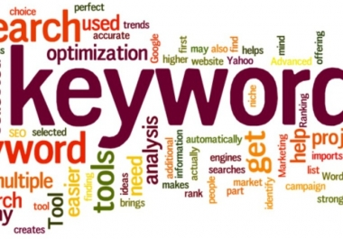 give you top 50 keywords on your niche by doing a Laser Targeted research