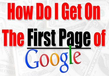 I will boost Your Website To Google Page 1 Ranking