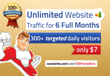 Unlimited TARGETED Real Human Website TRAFFIC For 6 Months for $15