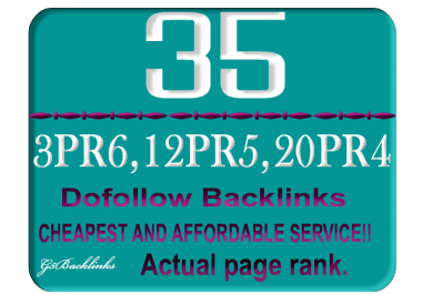 I will do Manually 20xPR4, 12xPR5 3xPR6 Total 35 High PR Do follow Blog comments