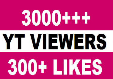 I will give you 3000+ HQ Real Human Yu+Tu viers 70%+ Retention up to 1 Hrs 50 tums up