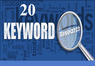 Best  20 Seo quality keyword  research for your website only