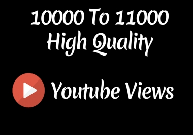 Instant 10000 to 11000 High Quality Youtube Vie ws