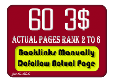 I will do MANUALLY 60 Blog Comment Pr6 To Pr2 DoFollow Backlinks