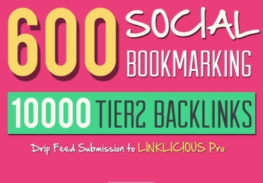 create 600 Social Bookmarks and 10,000 Tier2 Scrapebox Blast