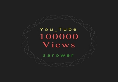 Add 100000 (100k) You_Tube V.iews Fast Service