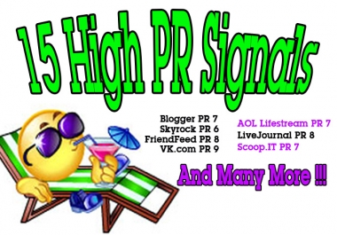 *** make 15 High PR Authority Whitehat Backlinks***