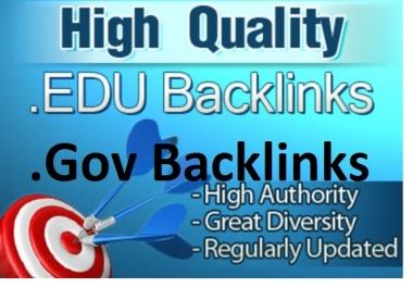 create 40+ high PR edu and gov backlinks for panda 4.0