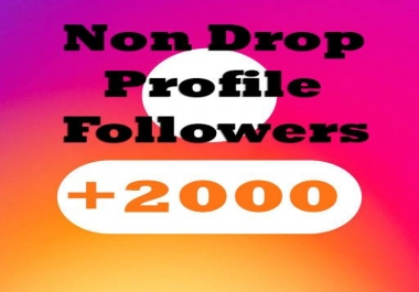 Give You 2000+ Followers to your Profile within 2-3 hours[ Non Drop]