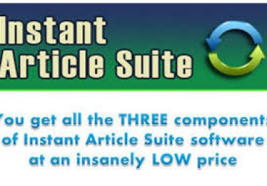 *3 in 1 Instant Article Suite Software Makes Your Content 100 percent Uniqueness**