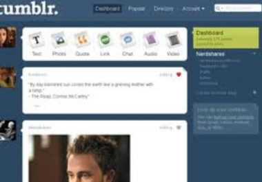do html edits for TUMBLR blog