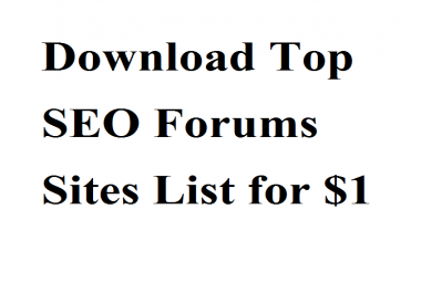 Download Top SEO Forums Sites List