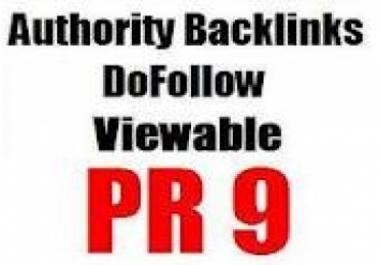Bring backlinks from PR8+PR7+PR6+PR5 Websites to give great backup to your website
