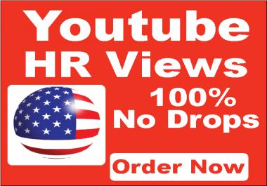 Get 50k HR USA You-tube Vi-ews 100% Non Drops