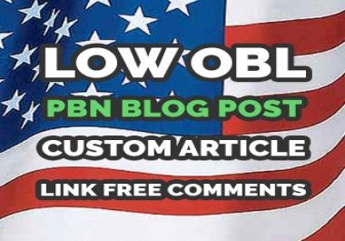 "GET 5 ""LOWEST OBL"" PBN CUSTOM ARTICLES DA:28 PA:40 CF:22 TF:7 SB:5 - PERMANENT BLOG POSTS ON DIFFERENT DOMAINS"
