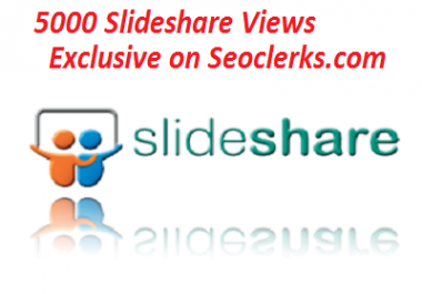 Slideshare dot net presentation views 5000 plus guaranteed
