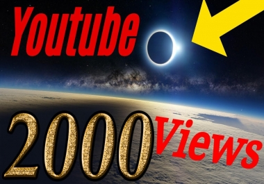 2000 - 3000 Youtube Video Vie ws instant start / super fast delivery / SPLIT in 2 video