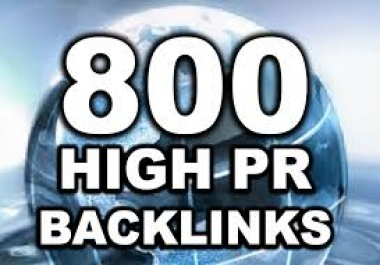 I will create 800 High PageRank Backlinks For Your Website Ping And Full Link Report@@**&&&