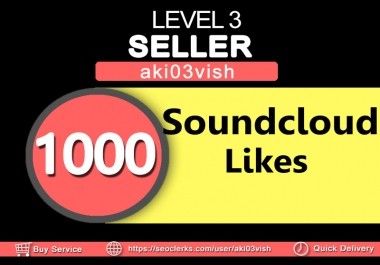 get Instant 1000 soundcloud likes or follower in your track within 24hrs
