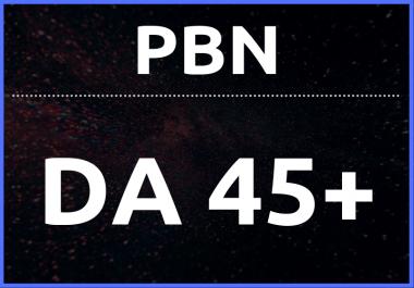 Build 5 Manual PBN DA 45+ Do-follow Backlinks