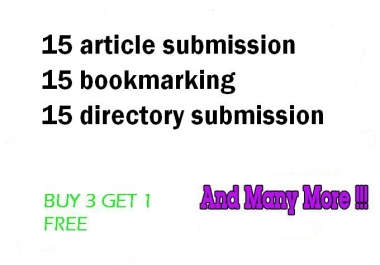 Boost your website high rank with Bookmarking and submission for