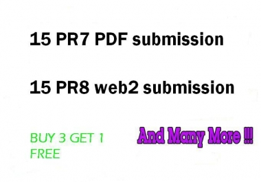 I will Create Hummingbird safe 15 PR7 PDF submission and 15 PR8 Web2 Blogs for