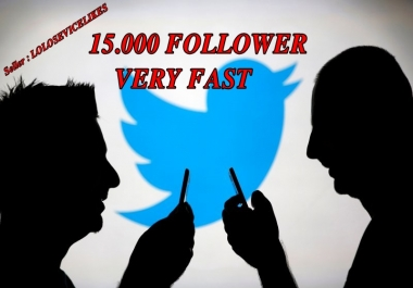I will 2 000+ TWITTER follow ers very fast