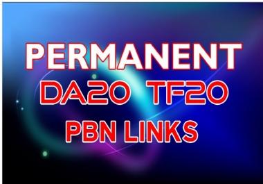 SUPER STRONG 20 Permanent PBN Links DA20+ & TF 20+