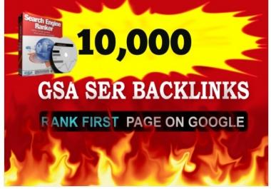 create 10 buffer sites 10,000 high PR GSA SER backlinks