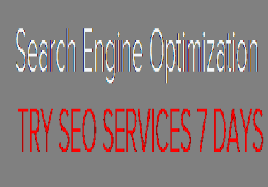 TRY SEO SERVICES 7 DAYS FOR