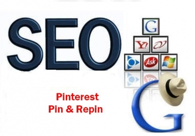 80 PR6 to PR4 Backlinks for your website through Pin and Repin in my board