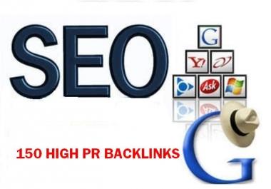 150 high PR Mixed Back links