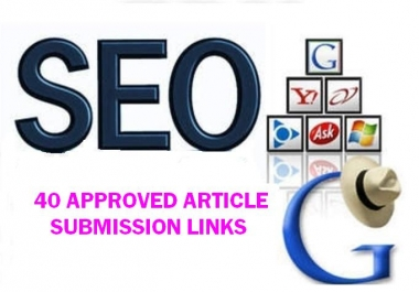 High Pr 40 article submission sites