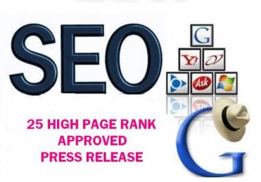 Press release in 25 High PR press release sites