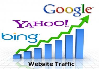 150000 Real Organic and social media Website traffic USA+EU