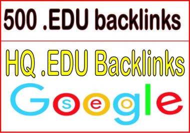 Get you 500 HQ. EDU PR10 to PR6 Backlinks