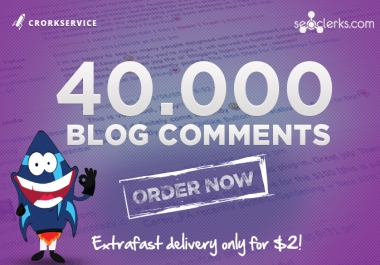I will make 40,000 SEO blog comment backlinks scrapebox linkjuice, stop here