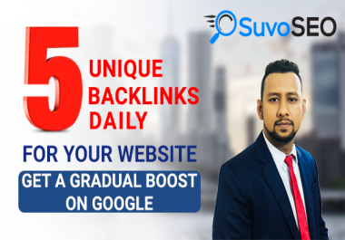DAILY 5 AGGRESSIVE UNIQUE Domain High DA BACKLINKS!! (30 Days)