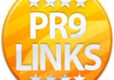 manually create 26 High authority PR9 Backlinks Panda,Penguin Hummingbird safe...