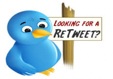 Provide you 1000 twitter re-tweets
