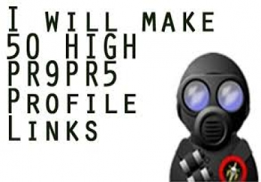 make 50 High PR9 PR5 Profile Links,Ping and make feed../*/..