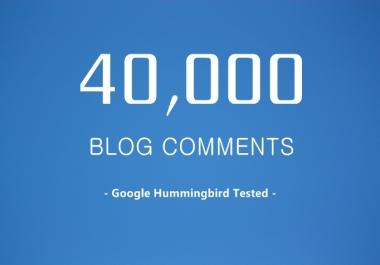 40,000 SEO Blog Comment Backlinks Scrapebox Linkjuice, Stop Here