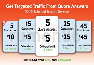 Drive traffic to your website with 5 Quora answers