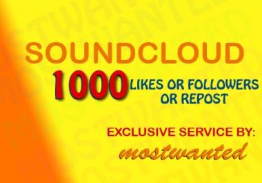 1000 SOUNDCLOUD LIKES OR 1000 SOUNDCLOUD FOLLOWERS