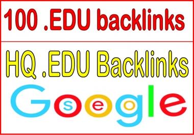 Build 100 HQ .EDU backlinks