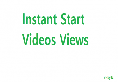 Instant Start 70.000 Views In Videos For Social Media