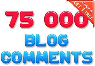build 75000 Blog comments..buy 5 get 1 free../*/.