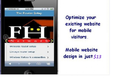 design a professional MOBILE website